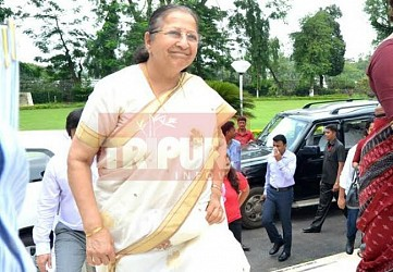 LS Speaker Sumitra Mahajan arrived at Raj Bhawan. TIWN Pic May 30